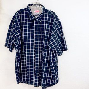 Wrangler short Sleeve plaid Shirt